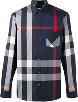 Burberry longsleeve checked shirt - men - Cotton/Polyamide/Spandex/Elastane - XS