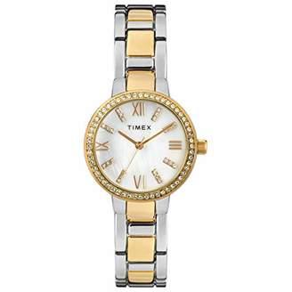 Timex Women's Dress Analog 30mm Bracelet Watch with Swarovski Crystals