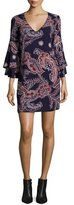 Ella Moss Riya Tiered-Sleeve Paisley Dress