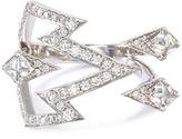 Stephen Webster 'Bolt' diamond 18k white gold open ring