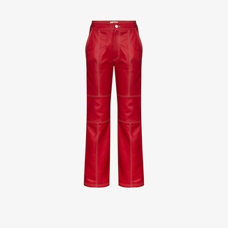 Kirin Straight Fit Leather Trousers