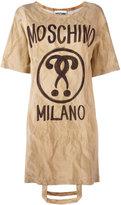 Moschino bag handle T-shirt dress - women - Viscose/other fibers - 36