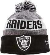 New Era NFL Sideline Oakland Raiders Bobble Knit Beanie Hat - O/S