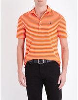Polo Ralph Lauren Slim-fit Stripe-print Cotton-piqué Polo Shirt