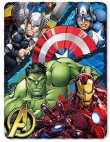 "Marvel Marvel's Avengers Defend Earth Fleece Throw - 46""x 60"""