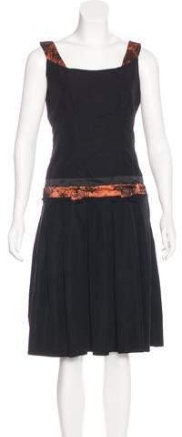 Sophie Theallet Lace-Trimmed A-Line Dress w/ Tags