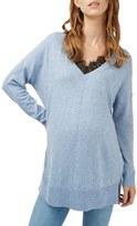 Topshop Women's Lace Trim Maternity Sweater