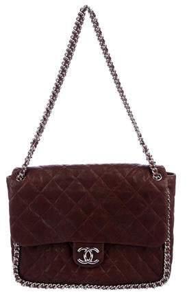 88a1d34b3e39eb Chanel Brown Chain Strap Shoulder Bags - ShopStyle