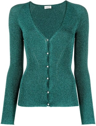 Lanvin Fine-Knit Buttoned Cardigan