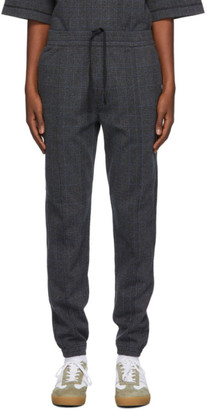 Dries Van Noten Grey Check Slim Trousers