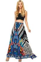 Flying Tomato Women's Boho Style Long Maxi Skirt (L, )