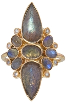 Jacquie Aiche Labradorite Hanalei Ring - Rose Gold