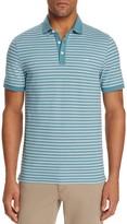 Michael Kors Striped Piqué Slim Fit Polo Shirt