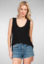 Cropped Back Tail Tank