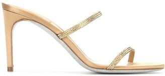 Rene Caovilla Rhinestone-Embellished Sandals