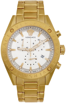 Versace Gold V-Chrono Watch