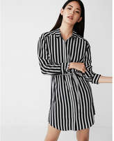 Express petite striped pocket shirt dress