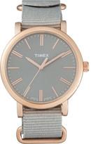 Timex Original Classic 38 Rsg Case/Gry Nylon Strap