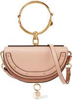 Chloé Nile Mini Leather Shoulder Bag - Beige