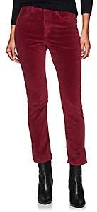 3x1 Women's Higher Ground Mini Split Velvet Pants - Wine