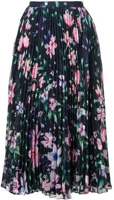 Marchesa floral pleated skirt