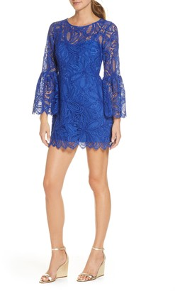 Lilly Pulitzer Denise Long Sleeve Lace Overlay Romper Dress