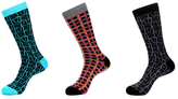 Jared Lang Abstract and Gridded Socks (3 PK)