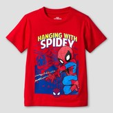 Spiderman Toddler Boys' Hanging Spidey Short Sleeve T-Shirt - Red