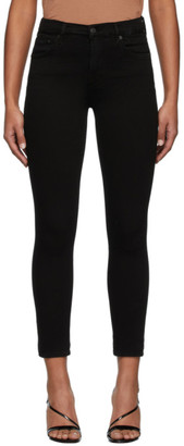 Citizens of Humanity Black Rocket Crop Mid-Rise Skinny Jeans