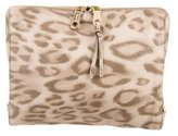 Chloé Printed Leather Clutch
