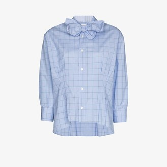 Rentrayage Checked Bow Tie Shirt