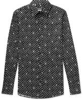 Dolce & Gabbana Slim-Fit Polka-Dot Cotton-Poplin Shirt
