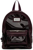 Maison Margiela Burgundy PVC Backpack