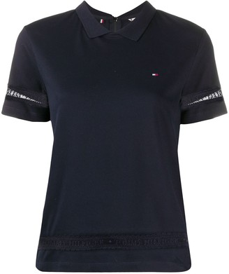 Tommy Hilfiger Lace-Detail Polo Shirt
