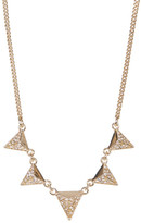 Jessica Simpson Embellished Pyramid Frontal Chain Necklace