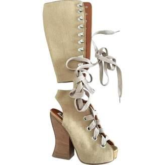 Acne Studios Beige Cloth Boots