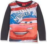 Disney Boy's Lightning Mc Queen Race Car T-Shirt,(Manufacturer size: 98 CM)