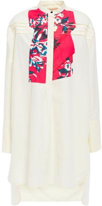 Roksanda Asymmetric Printed Cotton-blend Shirt
