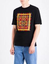 Loewe Tartan Patch cotton-jersey T-shirt