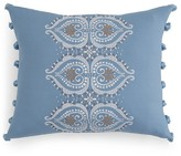 "Sky Medera Fringe Decorative Pillow, 16"" x 20"""