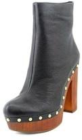 BCBGeneration Renegade Women Open Toe Leather Black Platform Heel.