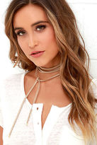 LuLu*s Ride or Tie Taupe Wrap Necklace