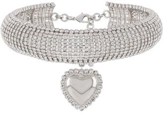 Alessandra Rich Heart Pendant Choker Necklace