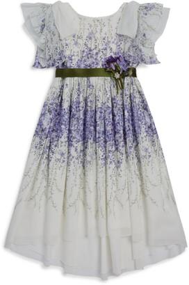 Lesy Wisteria Print Dress (3-14 Years)