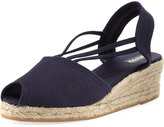 Sesto Meucci Afia Denim Wedge Espadrille, Navy