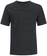 Helmut Lang Tweed Ottoman Short Sleeved Sweatshirt Black Heather