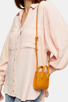 Topshop JAX Orange Micro Mini Tote Bag