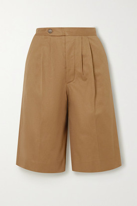 KING & TUCKFIELD Cotton-twill Shorts - Tan