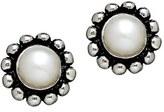 Honora Girl's White Cultured Pearl Earrings
