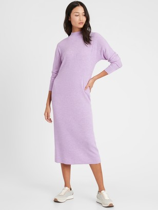 Banana Republic Washable Merino Dolman Sweater Dress
